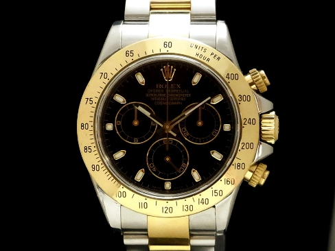 Rolex - ROLEX - Cosmograph Daytona Ref.116523 beauty products!  Net positive bag 18KYG/SS black dial automatic winding men D-Sakura-shinmachi