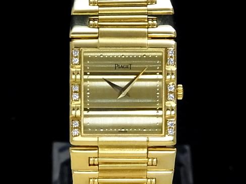 【USED】 ピアジェ - PIAGET - ダンサースクエア 18KYGケース/18KYGブレス ベゼルダイヤ クオーツ メンズ ボーイズ 【Luxury Brand Selection】腕時計【中古】