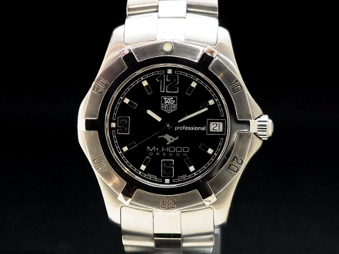 Tag Heuer - TAG HEUER - 2000 series exclusive professional SS/SS quartz mens black face Sakura shimmachi