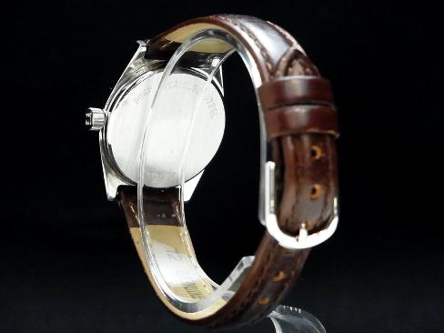 Zenith - ZENITH - winding tonneau-Arabian index beauty articles SS case / leather belt womens hands silver face