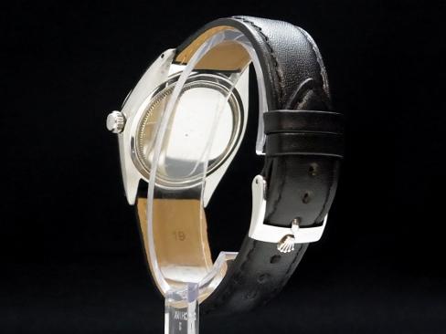 -ROLEX - Rolex Oyster date Ref.6694 Navy face SS case / leather men's hand caught Sakura-shinmachi Marathon02P02feb13