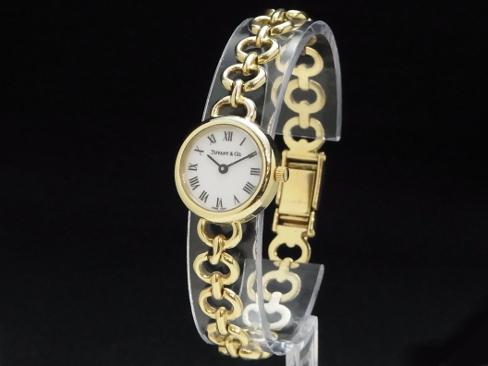 Tiffany - Tiffany &Co. - round classic Roman quartz 14 KYG women's Sakura-shinmachi