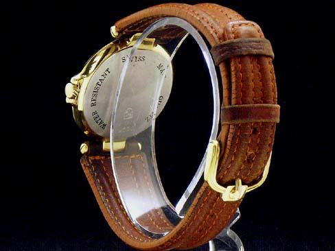 Dunhill - DUNHILL-Millenium YGP case / leather quartz mens