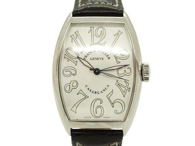 【USED】 フランクミュラー - FRANCK MULLER - カサブランカ 5850 SSケース/革ベルト 白文字盤 自動 メンズ 腕時計【中古】