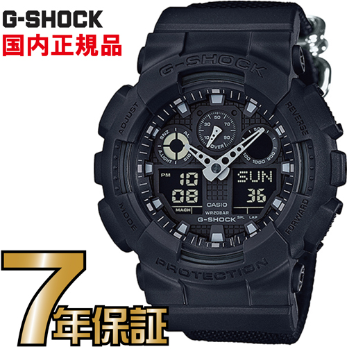 G-SHOCK Gショック アナログ GA-100BBN-1AJF CASIO 腕時計 【国内正規品】 メンズ