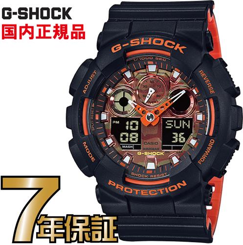 G-SHOCK Gショック アナログ GA-100BR-1AJF CASIO 腕時計 【国内正規品】 メンズ