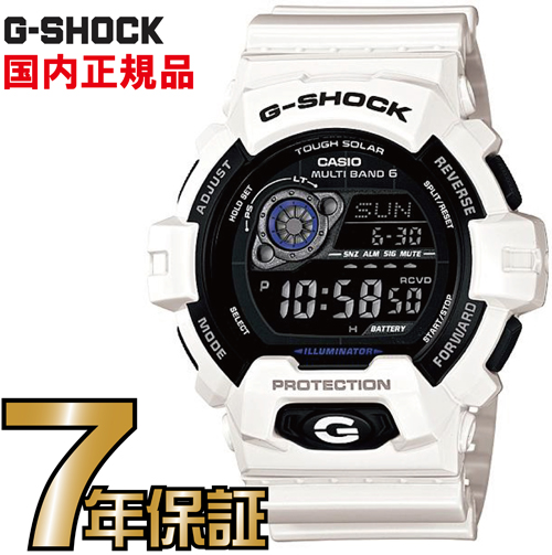 G-SHOCK Gショック GW-8900A-7JF 電波時計 タフソーラー 電波 ソーラー カシオ ホワイト 腕時計 ブラック 電波腕時計 【国内正規品】 メンズ ソーラー電波時計 ジーショック  基本機能を追求した新しいスタンダード