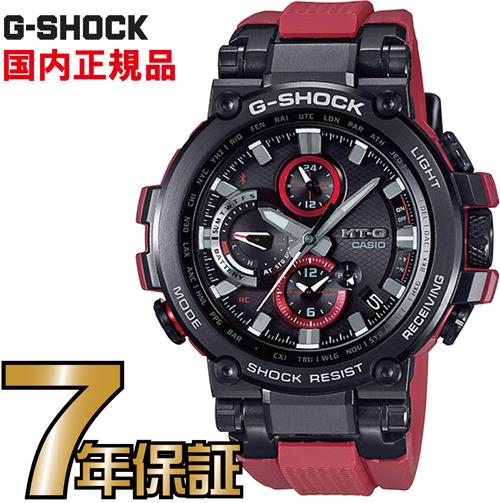 G-SHOCK Gショック MTG-B1000B-1A4JF 赤ベルト アナログ ブルートゥース 電波ソーラー スマートフォンリンク MT-G カシオ