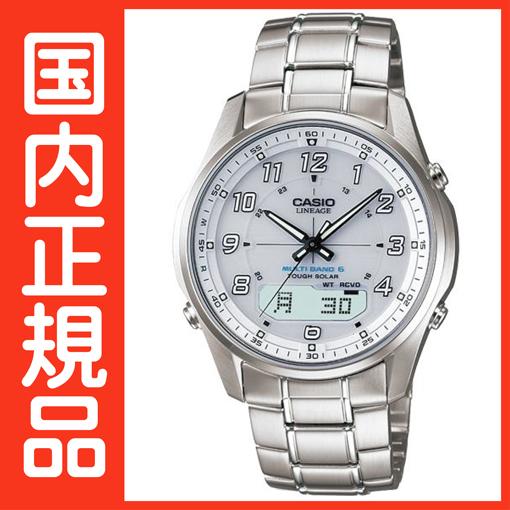 電波時計 タフソーラー 腕時計 カシオ 電波 ソーラー 電波腕時計 ソーラー電波時計 【国内正規品】 LINEAGE メンズ 【送料無料】 LCW-M100D-7AJF
