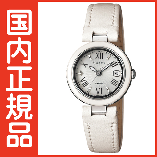 SHW-1506L-7AJF 【送料無料&代引手数料込み】CASIO カシオ正規品 「SHEEN(シーン)」から、セラミックをベゼルに採用したNewモデルが登場。
