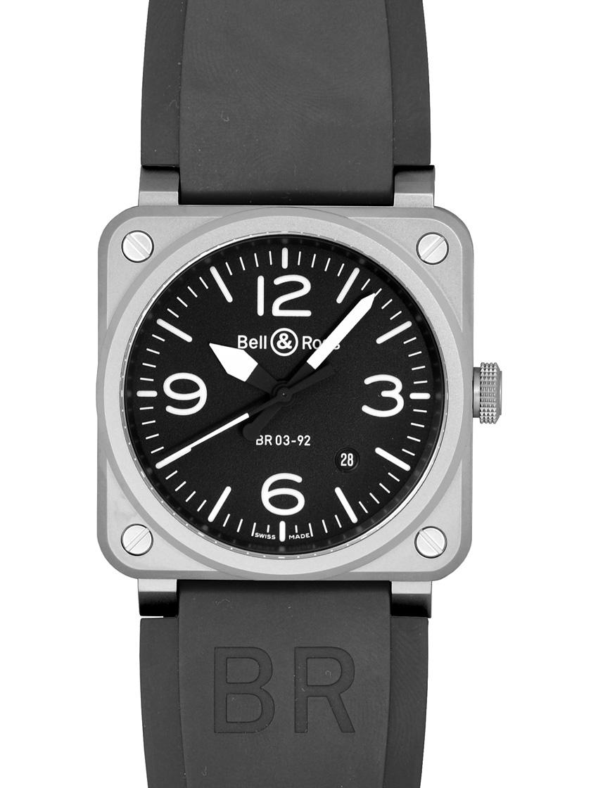 【新品】ベル&ロス BR0392-BLC-ST BR03-92 スチール SS/ラバー 自動巻き ブラック メンズ