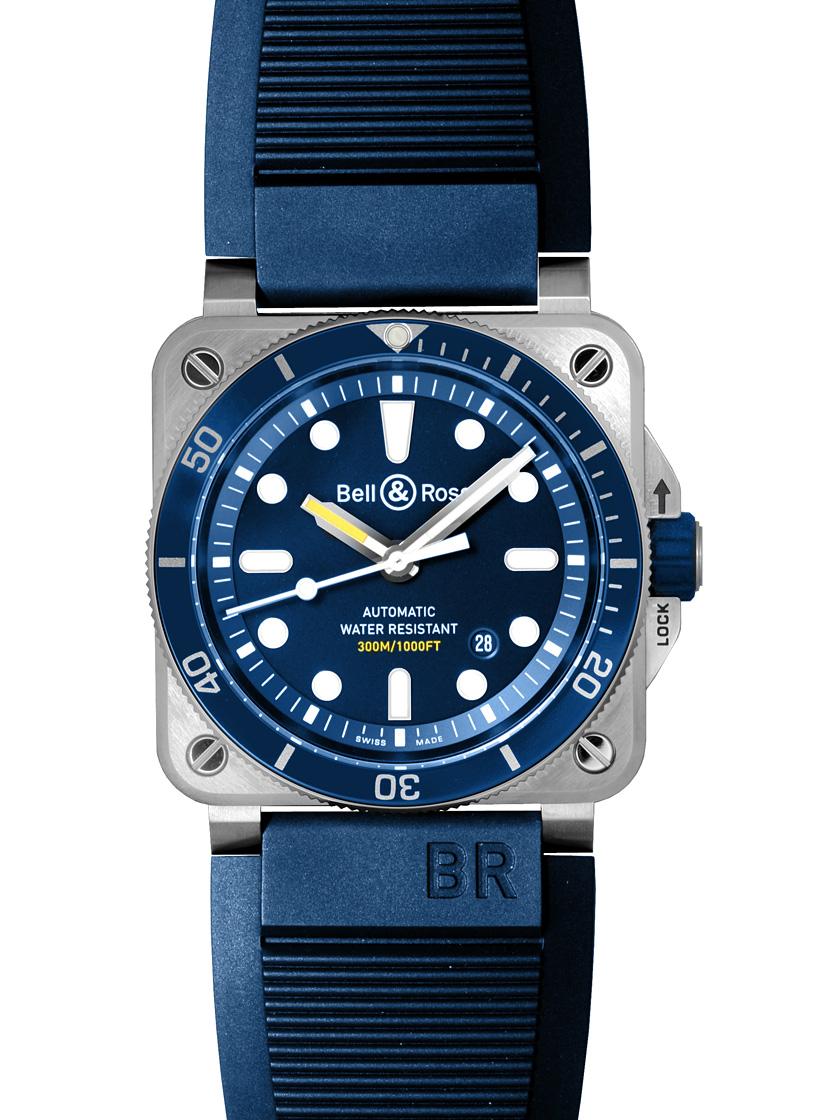 【新品】ベル&ロス BR0392-D-BU-ST/SRB BR03-92 ダイバーブルー SS/ブルーラバー ブルー 自動巻き