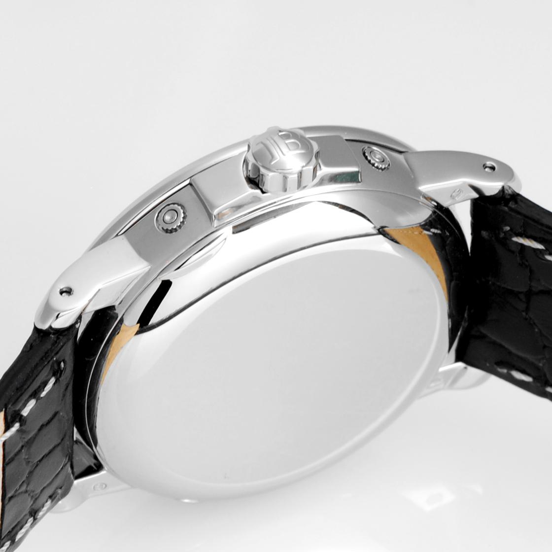 burampanremantoripurukarendamunfeizu世界250條限定獵人情况K18WG潔凈/MORELLATO公司製造皮革白表盤自動卷人3536-1542A-53《罕見的罕見的型號·皮革交換已經的!》