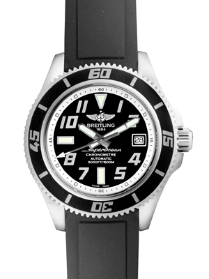 71b9fe09313 Breitling aeromarine superocean 42 (Super Ocean 2) abyss silver SS   rubber  (buckle type) automatic winding mens