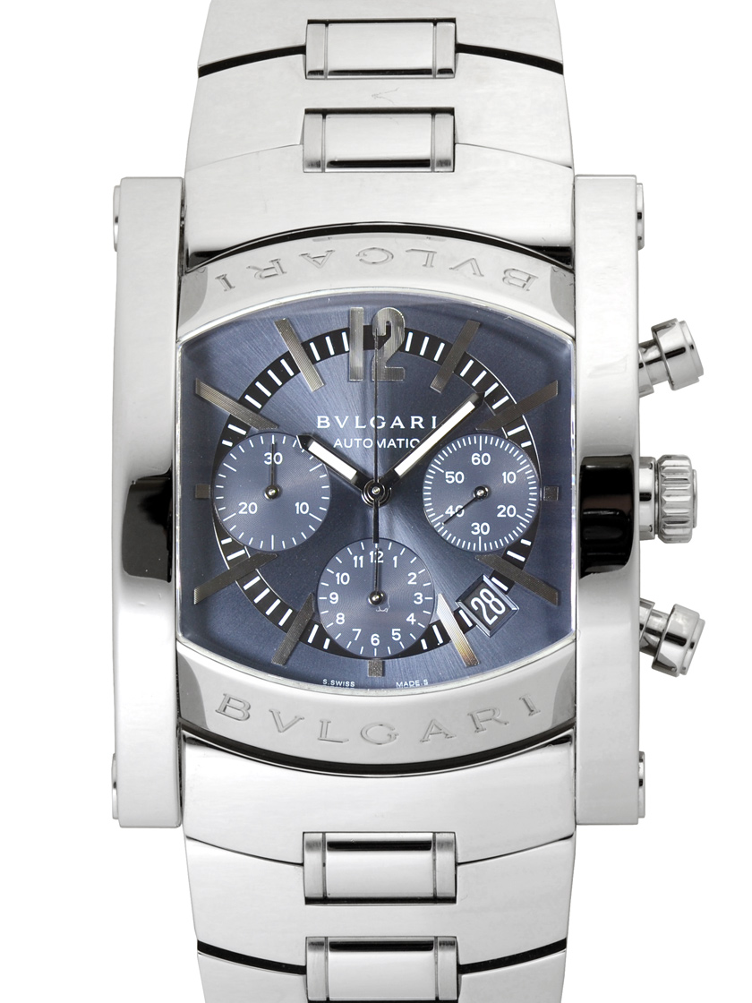 meet 6c96f e99ef Bvlgari AA48C14SSD CH ashaumacrono chart 48 mm men's gray character Panel  SS breath automatic winding, discontinued products! 》