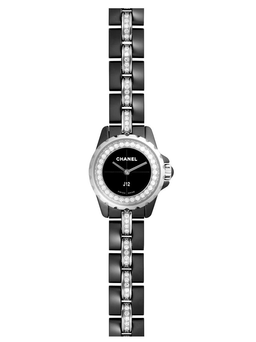 【新品】シャネル J12 XS H5236 ブラックセラミック レディース ブレスダイヤモンド ブラックダイアル・ダイヤモンド クォーツ
