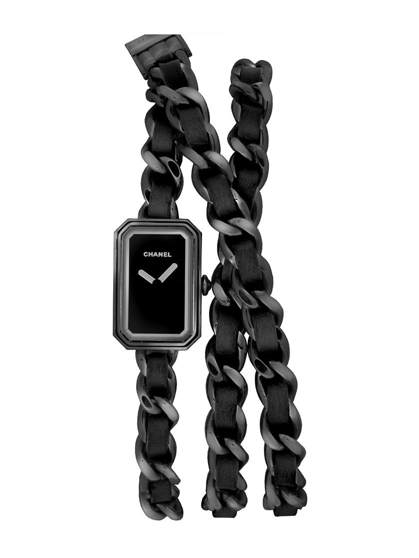 【新品】シャネル H5320 プルミエール ロック インテスブラック ブラックコーティングSS&ブラックレザー クォーツ ブラックダイアル 世界限定1000本モデル