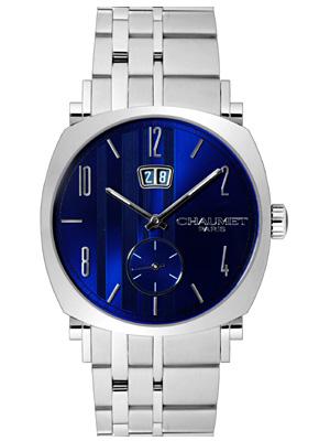 【新品】ショーメ メンズ ダンディ グランドデイト SSブレス ブルー 自動巻き W11680-47C 《ビッグデイト》