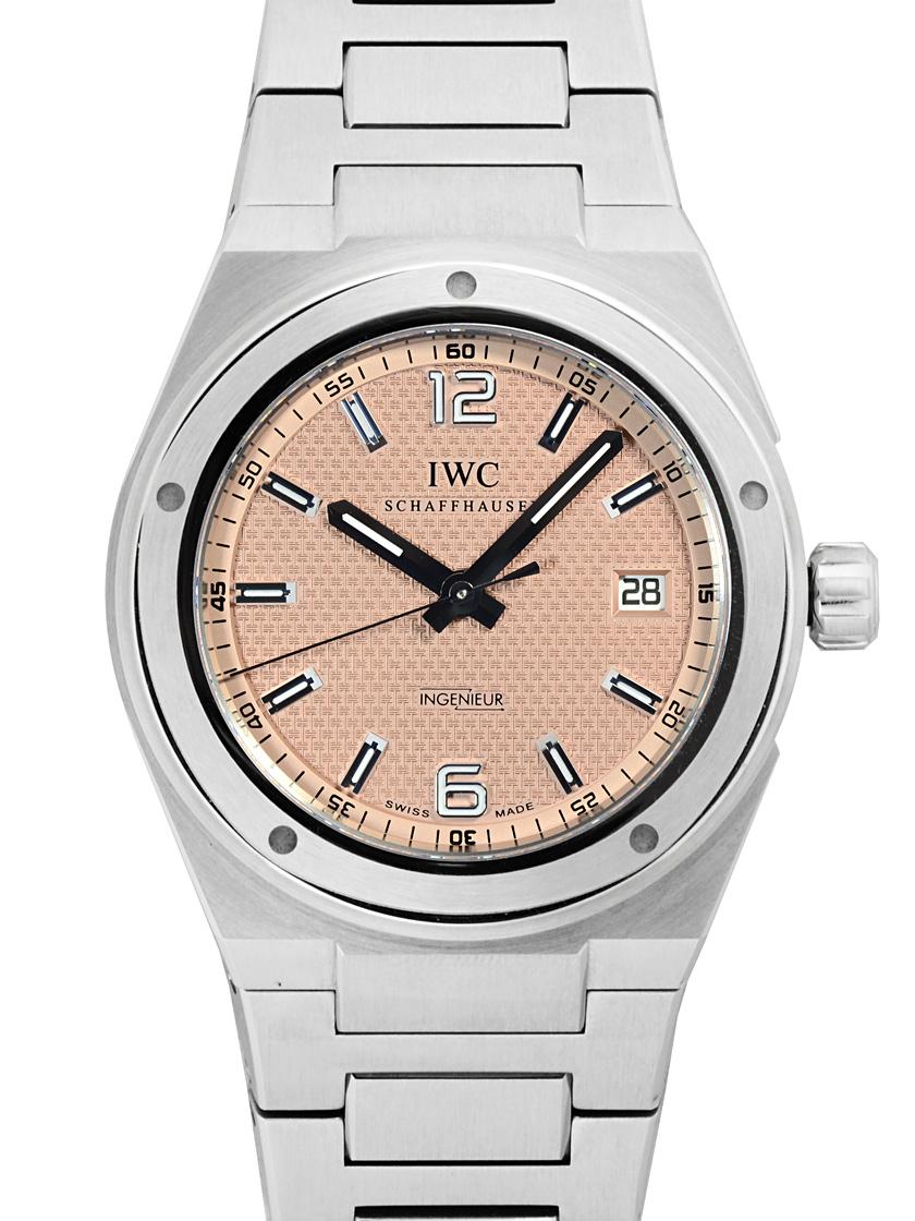 最新 【】IWC インヂュニア IW322711 ピンク文字盤 SSブレス 自動巻き 《世界200本限定・希少モデル!》, 数量は多い  4e5ca697