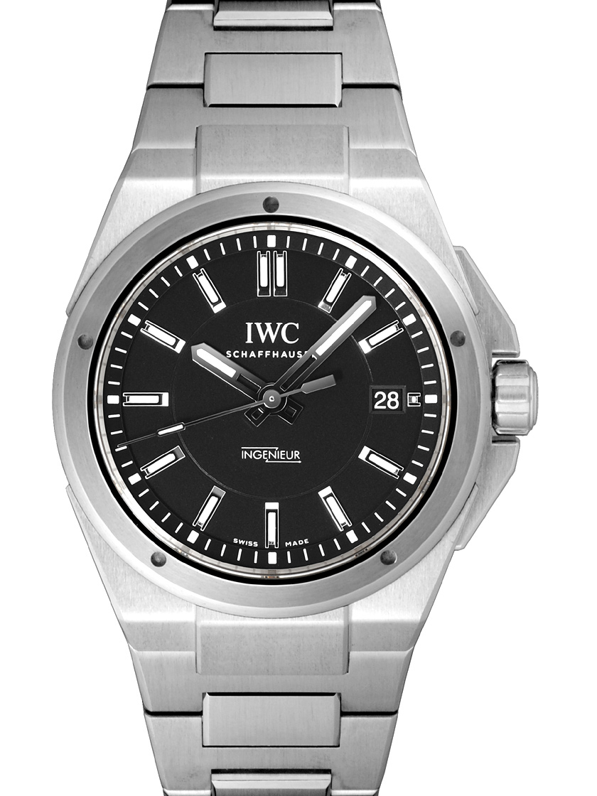the latest 27203 603e0 IW323902 IWC Ingenieur automatic SS breath automatic winding black
