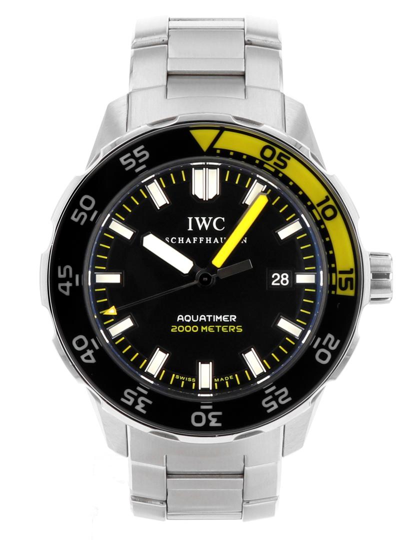 【中古】IWC IW356801 アクアタイマー オートマティック2000 ブラック文字盤 SSブレス 自動巻き メンズ 《生産終了モデル!》《オーバーホール済み!》