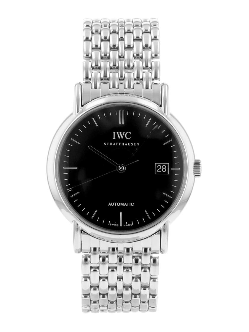 【中古】IWC ポートフィノ オートマティック IW353306 ブラック文字盤 SSブレス 自動巻き メンズ