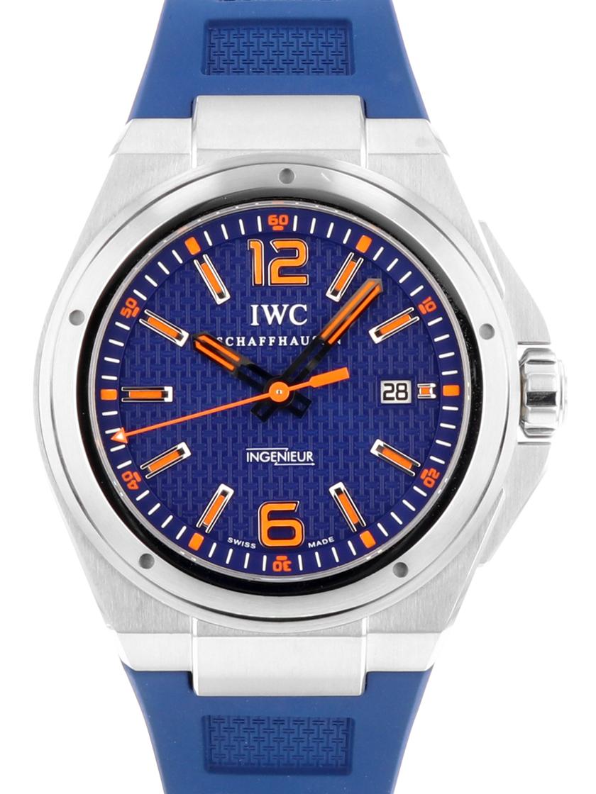 【中古】IWC インヂュニア オートマティックミッションアース IW323603 ブルー文字盤 オレンジインデックス SS/ブルーラバー 自動巻き 《世界1000本限定モデル!》