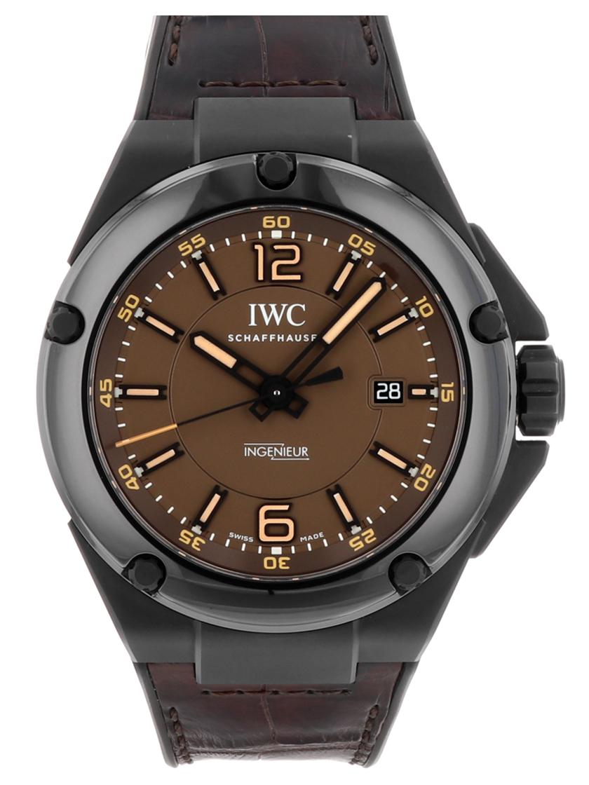 【中古】IWC IW322504 インヂュニア AMG ブラックシリーズ セラミック ブラウン文字盤 セラミック/レザー 自動巻き