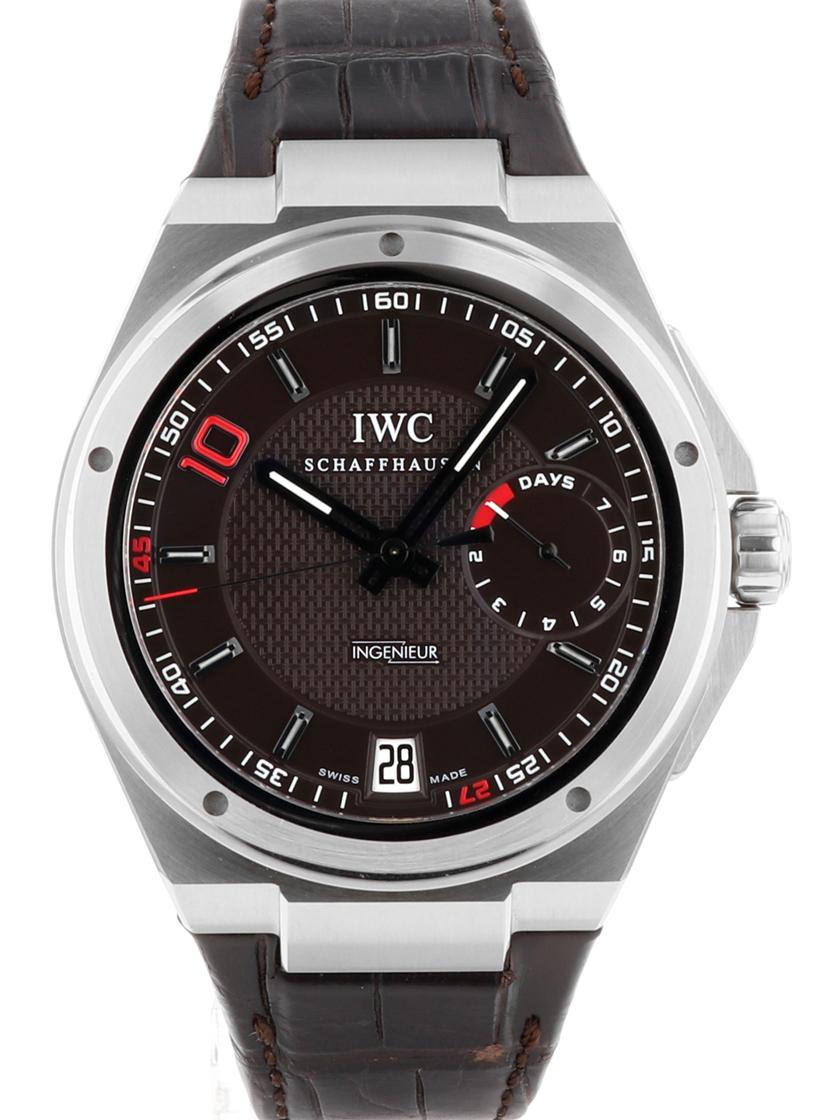 【中古】IWC ビッグインヂュニア 7デイズ ジダン IW500508 ブラウン文字盤 SS/レザー 自動巻き シースルーバック 《世界500本限定モデル!》