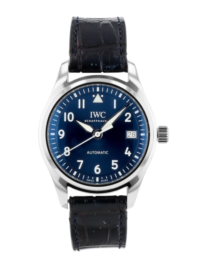 【中古】IWC IW324008 パイロットウォッチ オートマティック 36 SS/ブルーレザー ブルー文字盤 自動巻き