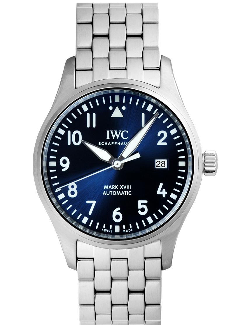 【新品】IWC IW327016 パイロットウォッチ マーク18 プティ・プランス SSブレス 自動巻き ブルーダイアル