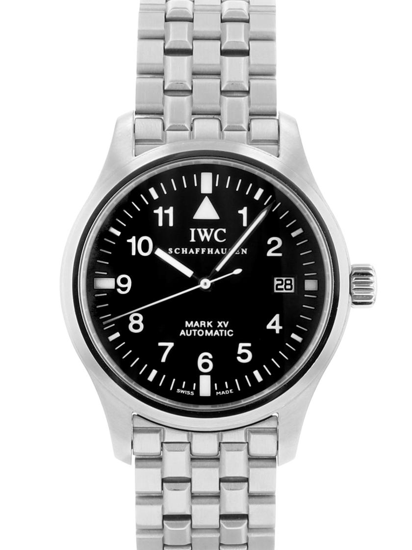 【中古】IWC IW325307 パイロットウォッチ マーク15 ブラック文字盤 SSブレス 自動巻き