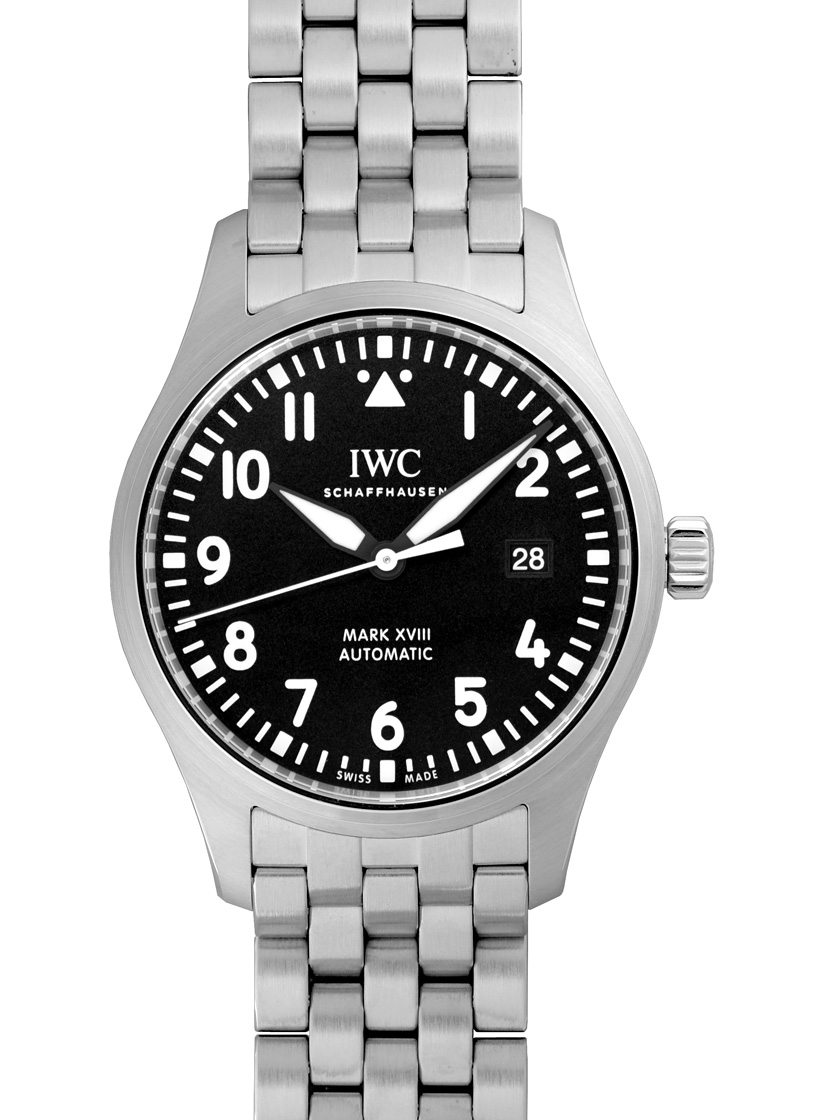 【新品】IWC IW327015 パイロットウォッチ マーク18 SSブレス 自動巻き ブラック 《マイナーチェンジモデル》