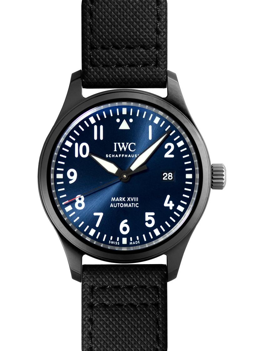 【新品】IWC IW324703 パイロットウォッチ マーク18 ローレウス・スポーツ・フォー・グッド SS/ブラックレザー ブルー 自動巻き 1500本限定モデル