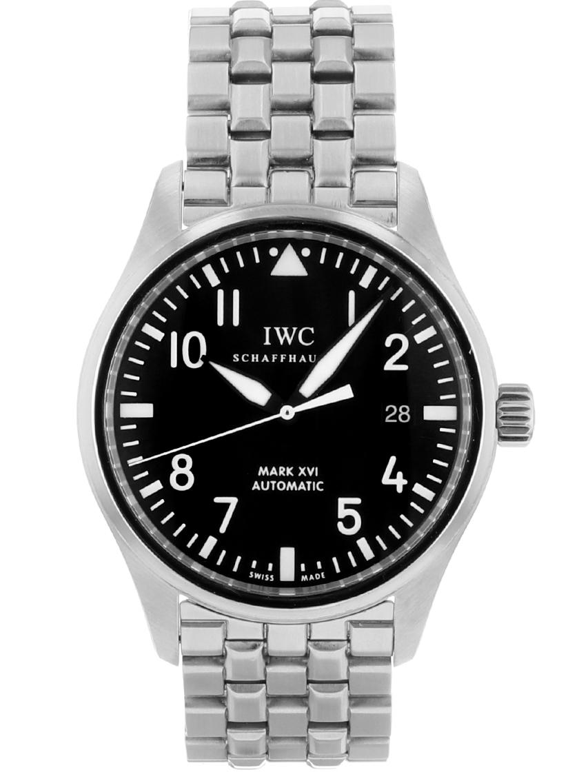 【中古】IWC IW325504 メンズ パイロットウォッチ マーク16自動巻き ブラック SSブレス 《オーバーホール済み!》