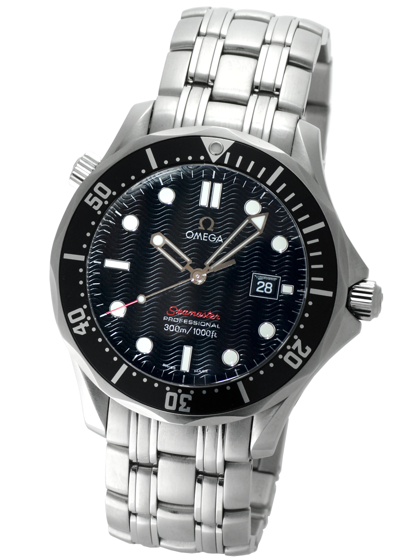 4b63036963d Omega 212.30.41.61.01.001 mens Seamaster 300 m professional black dial and  black bezel quartz movement