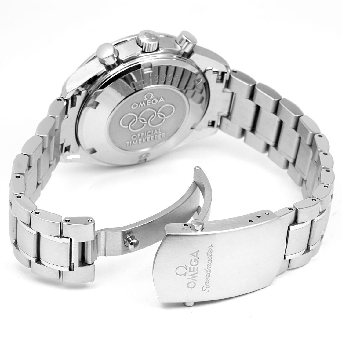 """歐米茄 323.10.40.40.04.001 速霸日期""""奧運收藏""""纏繞呼吸男裝 SS 白色錶盤阿拉伯數位索引"""