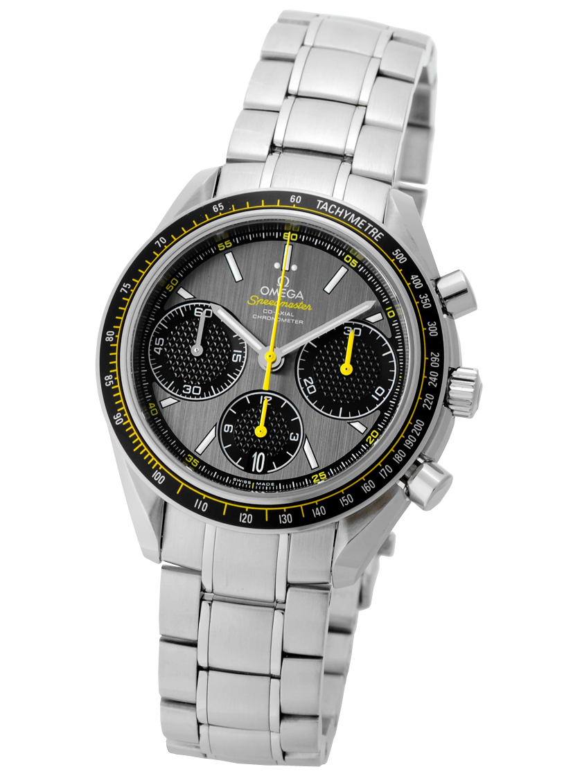 奥米伽326.30.40.50.06.001速度主人賽車SS灰色/黑色自動卷計時儀《人氣型號!》
