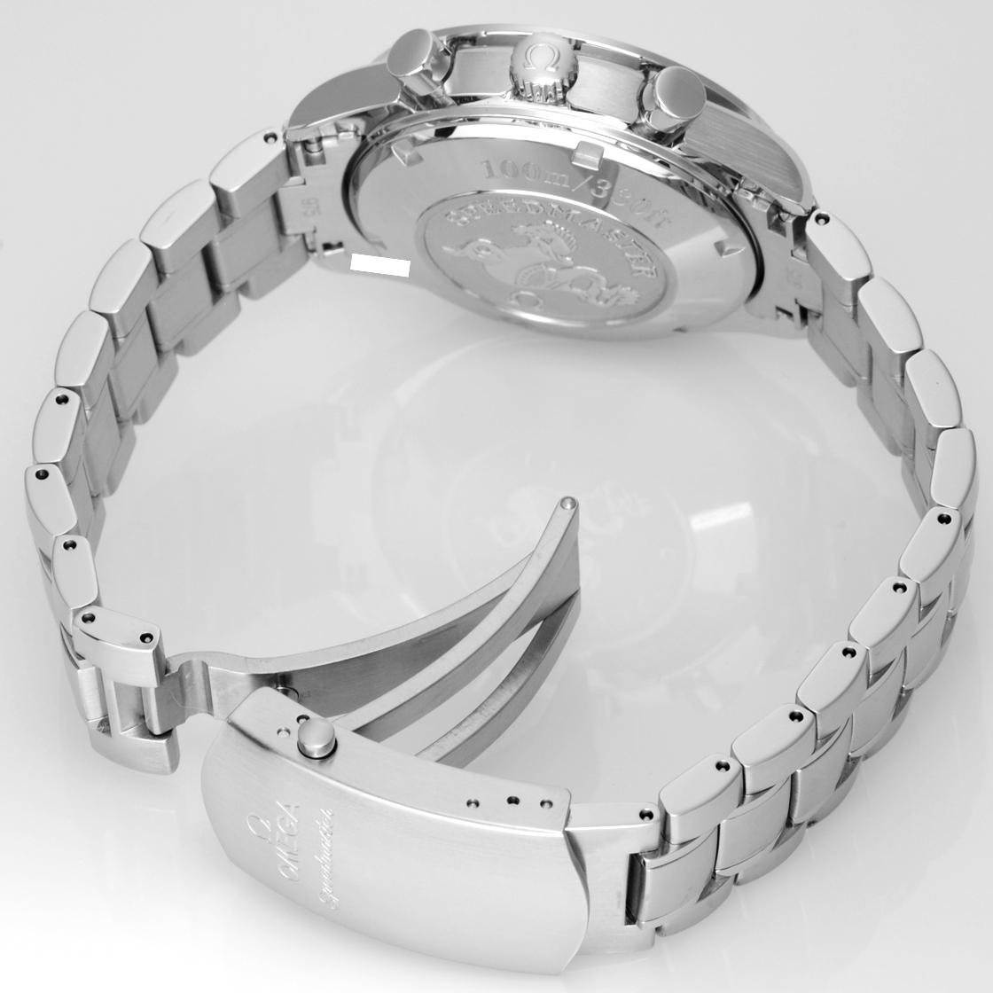 奥米伽速度主人日期323.30.40.40.04.001白表盤/黑色界內號碼盤自動卷計時儀人