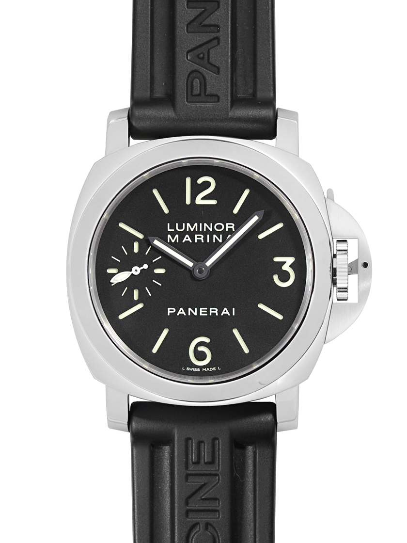 separation shoes e2928 96800 Panerai PAM00111 men's luminor Marina left 44mm手 with black letter Edition  SS / L black rubber