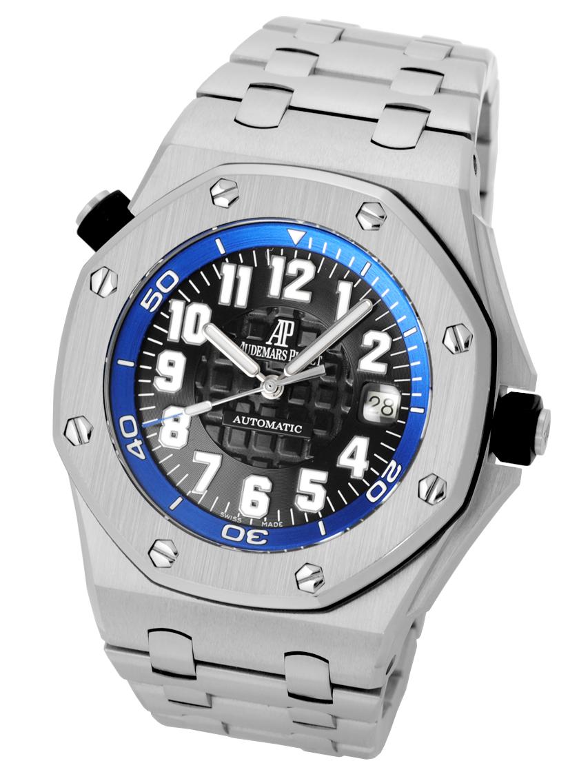 Audemars Piguet Royal Oak Offshore Diver Boutique Limited Black Dial Blue Inner Bezel 15701 St Oo D002ca 02 S World 300 Limited And Finish