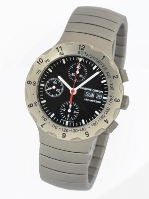 保時捷設計by eteruna 6500.10鈦計時儀黑色表盤自動卷SS呼吸人