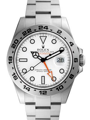 【新品】ロレックス 216570 NEWエクスプローラー2 ホワイト SSブレス 自動巻き 《エクスプローラーII》