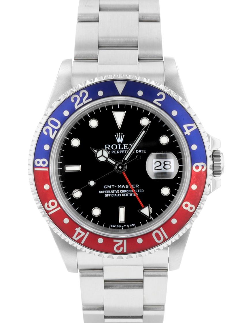 【中古】ロレックス Ref.16700 GMTマスターI 赤/青ベゼル メンズ 自動巻き X番 《生産終了モデル!》