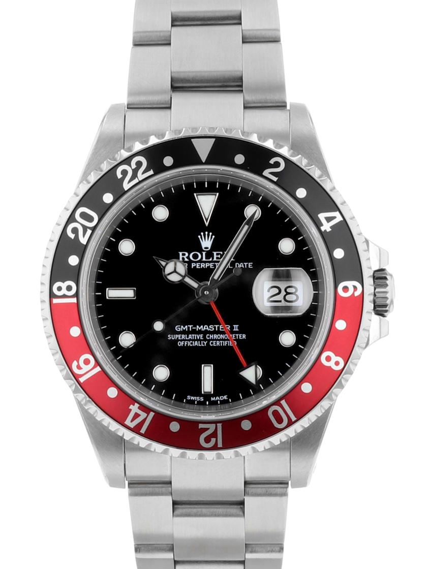 【中古】ロレックス 16710 K品番 GMTマスターII (GMTマスター2) 赤黒 (レッド/ブラックベゼル) SSブレス 自動巻き メンズ 《オーバーホール済み!》