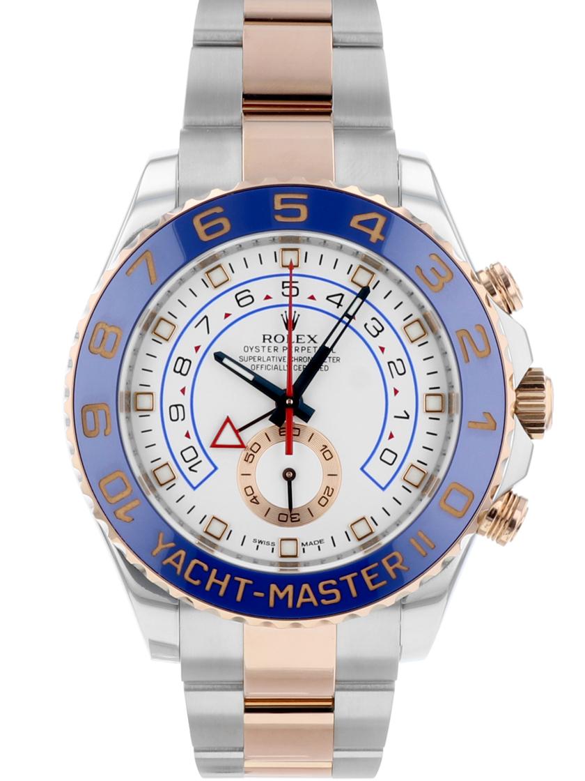 【中古】ロレックス 116681 ヨットマスター2 SS/RG メンズ ホワイト 自動巻き レガッタクロノグラフ G番 《希少モデル!》 【kuro_w2】