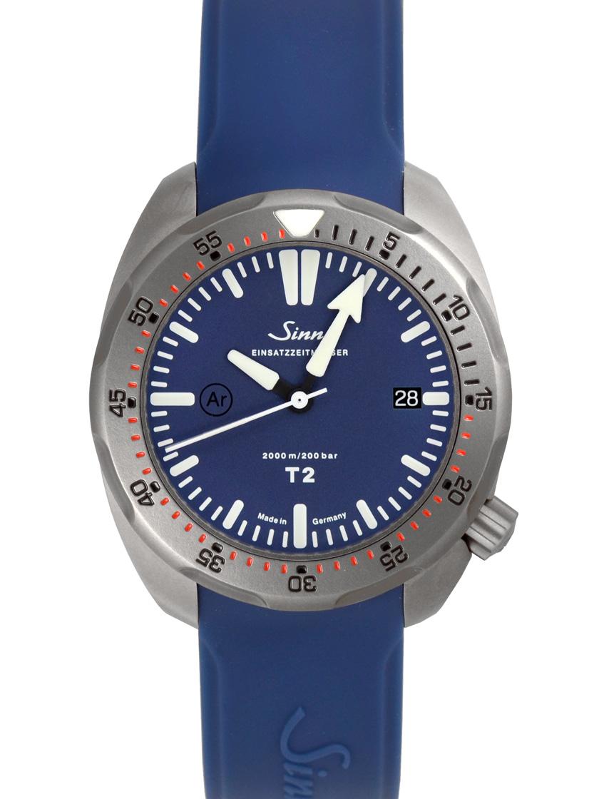 【新品】Sinn(ジン) ダイビング ウォッチ TシリーズT2.B (EZM15) TI チタン(チタニウム)/ラバー ブルー 自動巻き メンズ