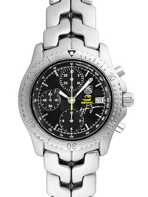 773664a194042 Tag Heuer link chronograph Ayrton Senna limited edition model 4098 this  limited production CT2115. BA0550 men s SS automatic winding black dial