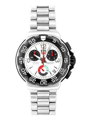 Tag Heuer Formula One Cac1111 White Ss Chronograph Quartz