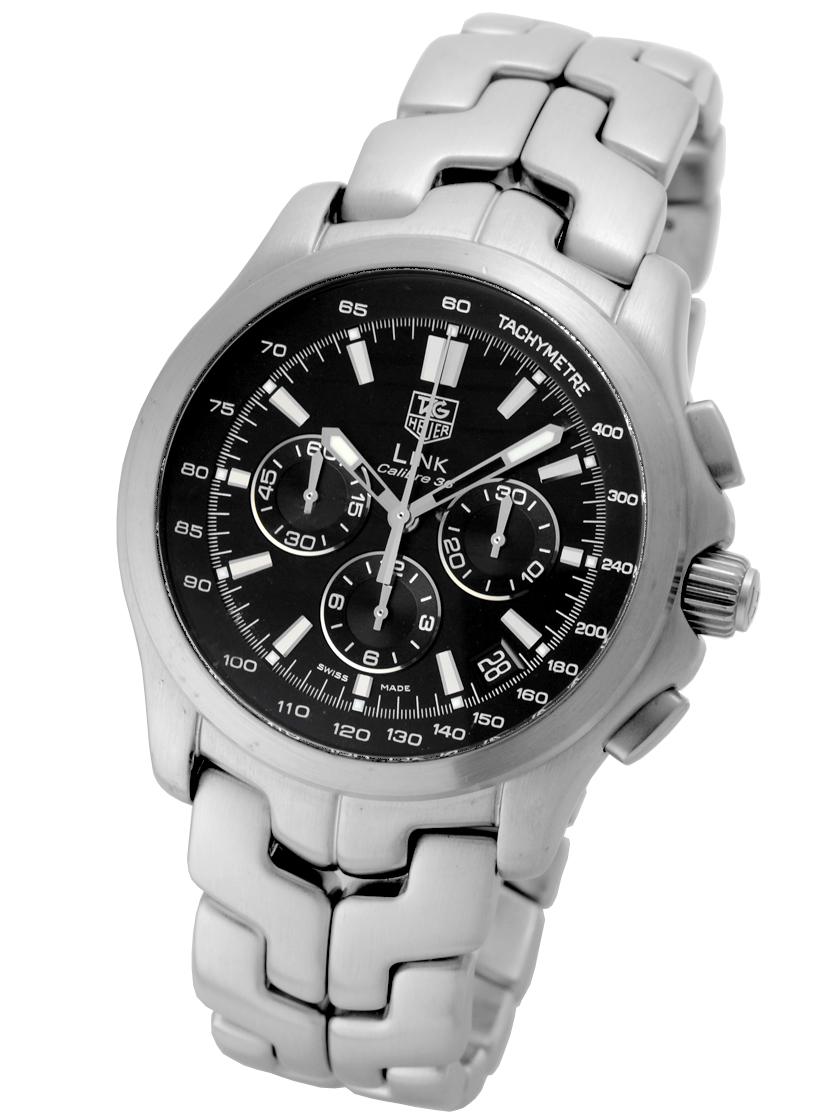 2e8af32bc41 -El Primero-based ZENITH company Tag Heuer mens CT511A link chronograph  calibre 36 black ...
